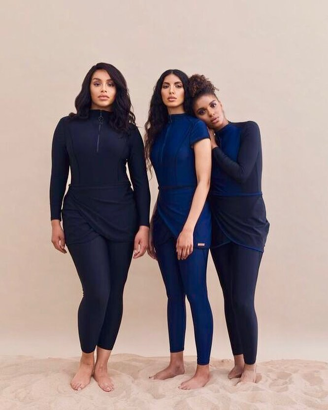 422b8cce71 Tired of going swimming in DIY modest swimsuits, the British designer  launched her own label in December 2016 and has since been revolutionizing  modest ...