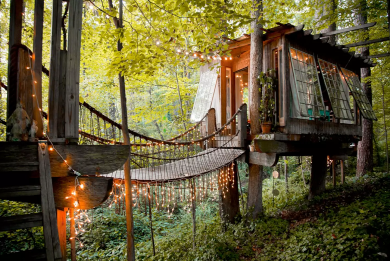 secluded intown tree house