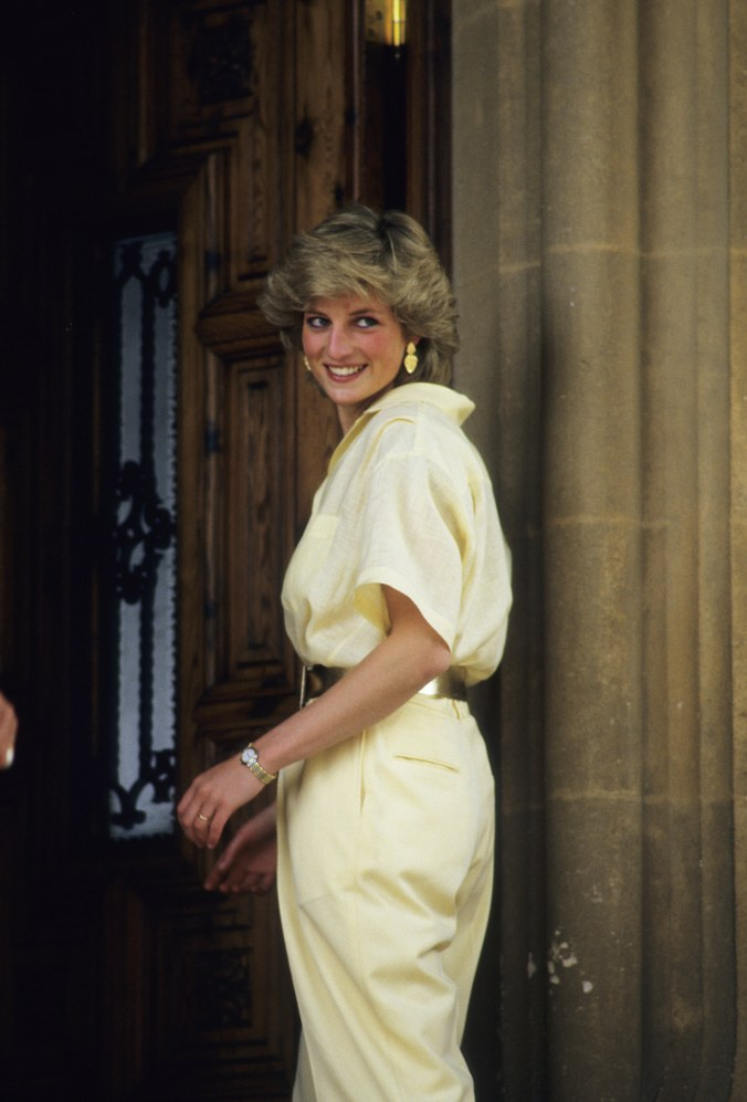 Princess Diana Yellow jumpsuit
