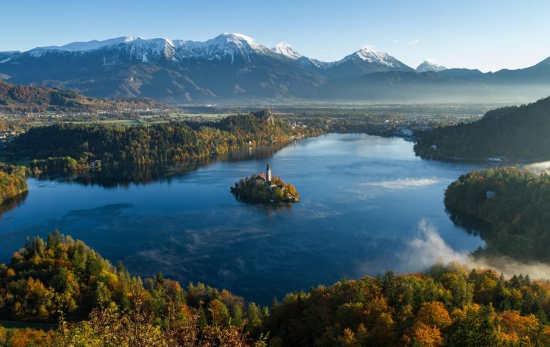 Lake view in Slovenia