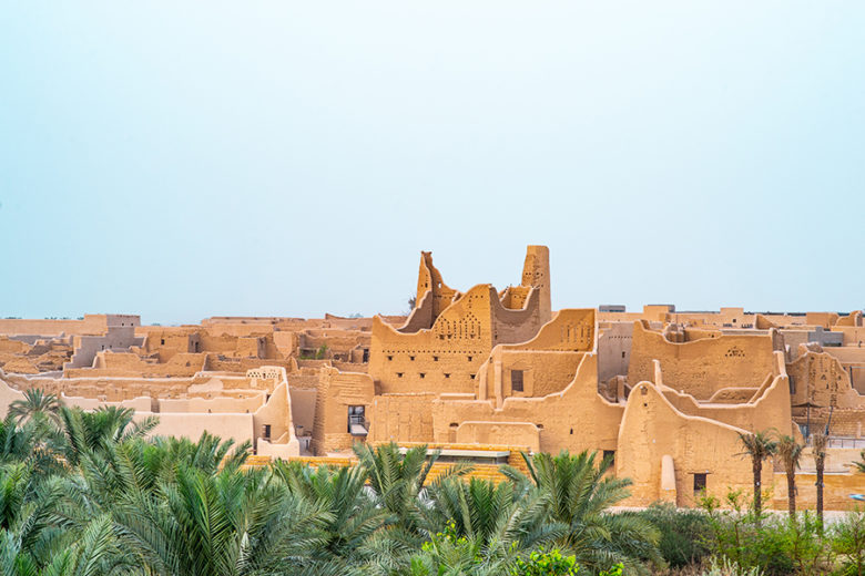 Diriyah mud architecture in Saudi Arabia