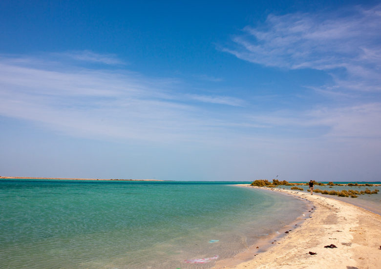 Empty beach on hasees gulf, Jizan Region, Farasan island, Saudi Arabia