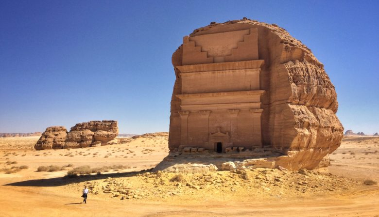 Madain Saleh archaeological site in Saudi Arabia