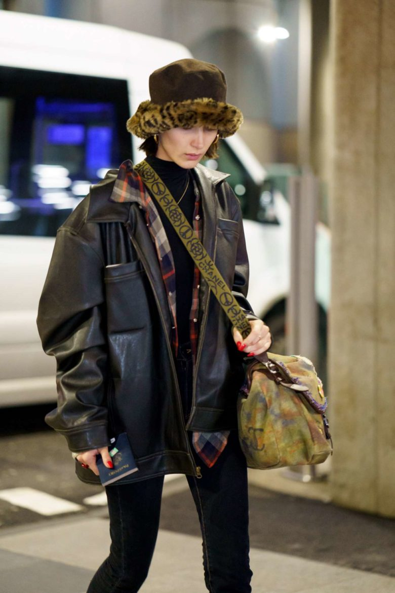 5 Times Bella Hadid Nailed The Furry Bucket Hat Trend Mille