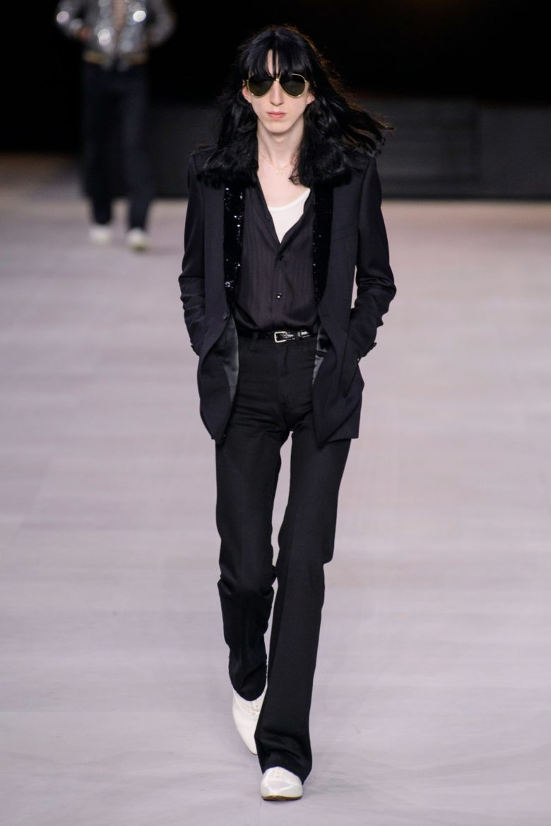 Long Androgynous Hairstyle Celine runway