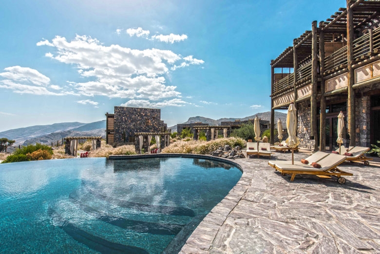 Alila Jabal Akhdar hotel pool in Oman
