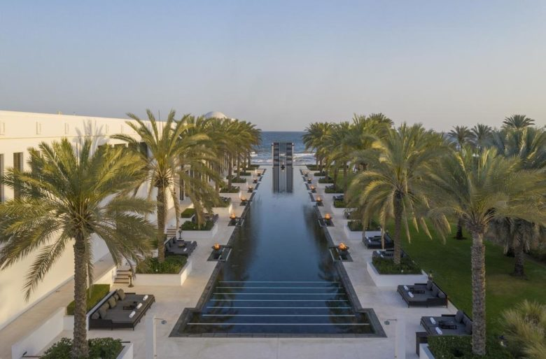 The Chedi hotel pool in Muscat