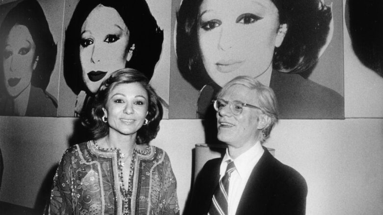 Farah Pahlavi with Andy Warhol