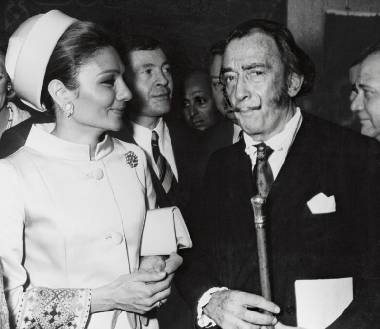 Farah Pahlavi with Salvador Dali